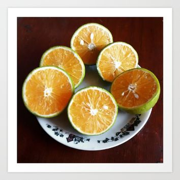 Oranges with some imperfection Art Print by VickaBoleyn