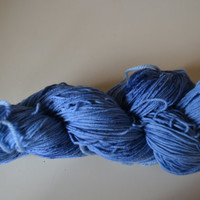 Hand Dyed Superwash Merino/Nylon Fingering/Sock Knitting Crochet Denim Splash