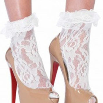 Sexy Lace and Ruffle Anklet Socks