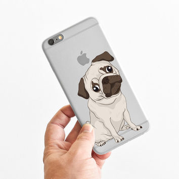 Sad Pug - Cute Pug - Super Slim - Printed Case for iPhone - S020
