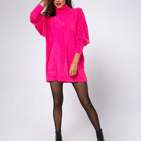 Neve Oversized Jumper in Rib Knit Pink by Motel