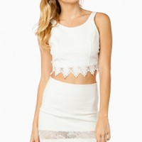 KAILASA CROP TANK TOP IN IVORY