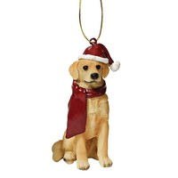 SheilaShrubs.com: Golden Retriever Holiday Dog Ornament Sculpture JH576305 by Design Toscano: Christmas Tree Ornaments