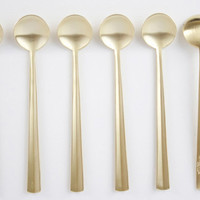 matte gold coffee spoon, set of 6 - Default Title / 0.2