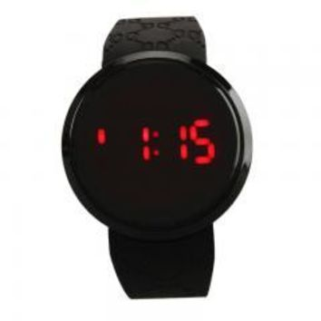 Fashion Waterproof Men LED Touch Screen Day Date Silicone Wrist Watch