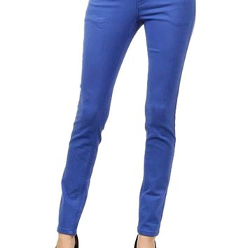 Colored Skinny Jeans, Royal