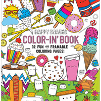 International Arrivals Color-in' Happy Snacks Book
