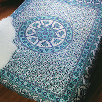 By The Moon - Aquarius Mandala Duvet Cover - Queen