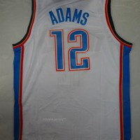 Rare Steven Adams 12 Oklahoma City Thunder New NBA Jersey Adams Oklahoma City Thunder