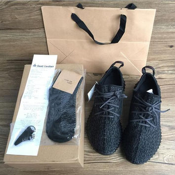 350 Boost Sneakers Training Shoes Fashion Women and Men Running Sports Shoe Low Kanye West Boots (Keychain+Socks+Bag+Receipt+Box)