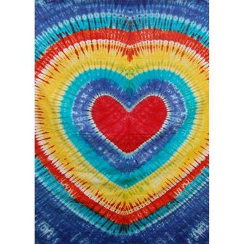 ICIKIS3 Heart Tie Dye Tapestry