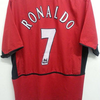 Sale Rare RONALDO #7 Fc Manchester United Training Jersey Football Shirts