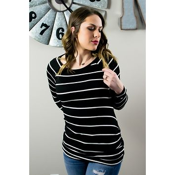 Happy Beginnings Top- Black