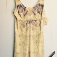 Gone Rustic Hand Dyed Lace Trim Slip Dress
