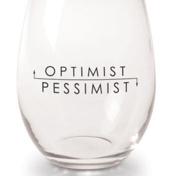 Signals - OPTIMIST/PESSIMST WINE GLASSES
