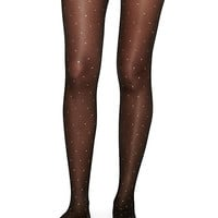 Kate Spade Lurex Spots Tights Black