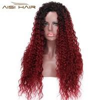 I's a wig 30 Inches Long Synthetic Ombre Afro Curly Wigs for Black Women  African Hairstyle