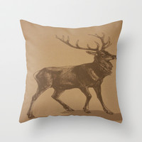 Stag Throw Pillow by liberthine01
