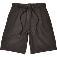 River Island MensBlack long sporty shorts