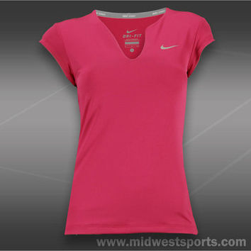 Nike Womens Tennis Shirt, Nike Pure Tennis Top 425957-665, Midwest Sports