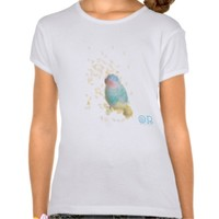 Bird with gold leaves illustration shirt