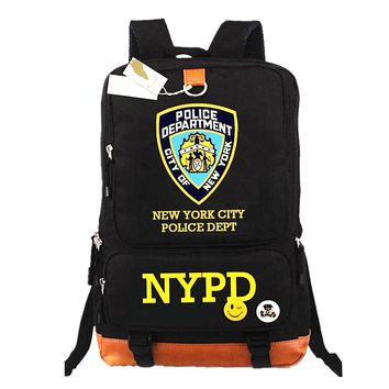 NYPD Police Officer Shield backpack City of New York Division bag