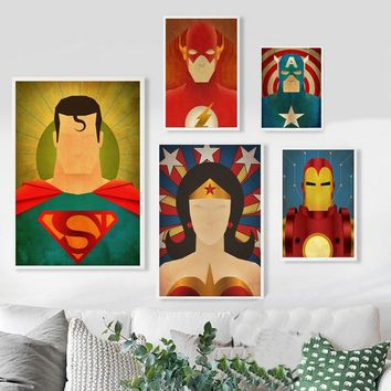 Comics Marvel Avengers Super Heros Film Affiche Art Oil Painting Poster 20x30 inch Prints Home Wall Decor Painting