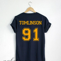 Louis Tomlinson Shirt Tomlinson 91 Tshirt Navy Color Unisex Size - RT65