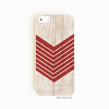 iPhone 5 Case iPhone 5S Case Wood Geometric Oxblood