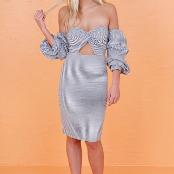 Off To The Vineyard Dress - Striped