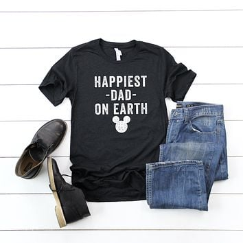 Happiest Dad on Earth | Short Sleeve Graphic Tee
