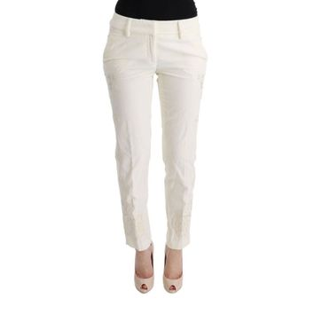 Ermanno Scervino White Cotton Cropped Capri Casual Pants
