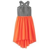 Speechless Striped High-Low Chiffon Dress - Girls