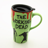 Ceramic travel mug, The Working Dead, zombies