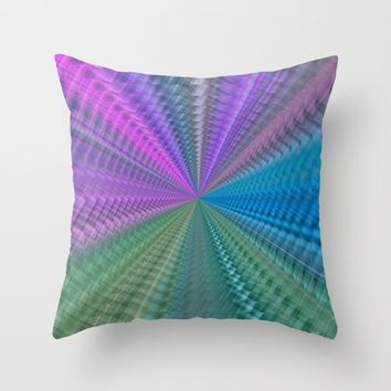 Psychedelic Twist Throw Pillow by LLL Creations