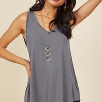 Endless Possibilities Tank Top in Grey | Mod Retro Vintage Short Sleeve Shirts | ModCloth.com