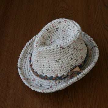 Baby Fedora Hat Newborn Crochet Fedora Photography Props Baby Shower Gift Cotton Summer Hat Baby Boy Hat Baby Girl Hat