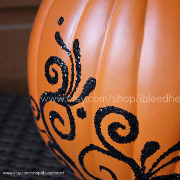 Fall Decor - Painted Craft Pumpkin