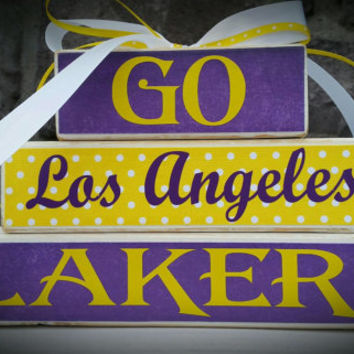 Custom College and Pro Sports Teams Los Angeles Lakers Fan Stacker