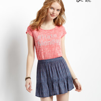 Aeropostale  Lorimer Ditsy Floral Ruffle Skirt