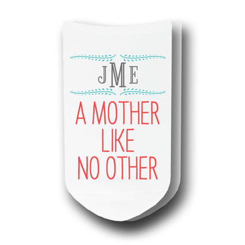 A Mother Like No Other Personalized with Monogram - Ladies Socks - Sold by the Pair - PERSONALIZED
