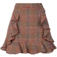 Manoush Ruffled Check Skirt - Farfetch