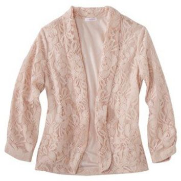 Xhilaration® Junior's Knit Blazer - Rose Marabou