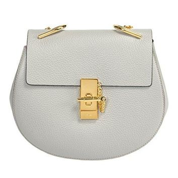 Chloe Women's Drew Shoulder Bag, Grey, Medium