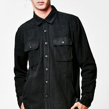 Obey Lafayette Fleece Shirt - Mens Shirts - Black - Large