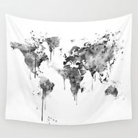 World Map Wall Tapestry by MonnPrint