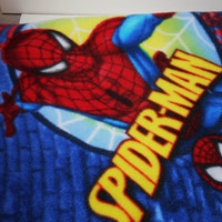Spiderman children's blanket, or throw, single layer soft fleece blanket