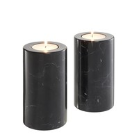 Black Marble Candle Holders 2 | Eichholtz Tobor M