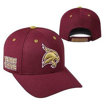 Licensed Texas State Bobcats NCAA Adjustable Triple Threat Hat Cap Top of the World KO_19_1