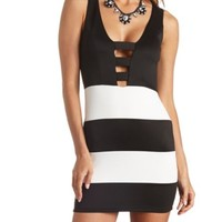 Cut-Out Deep V Bodycon Dress